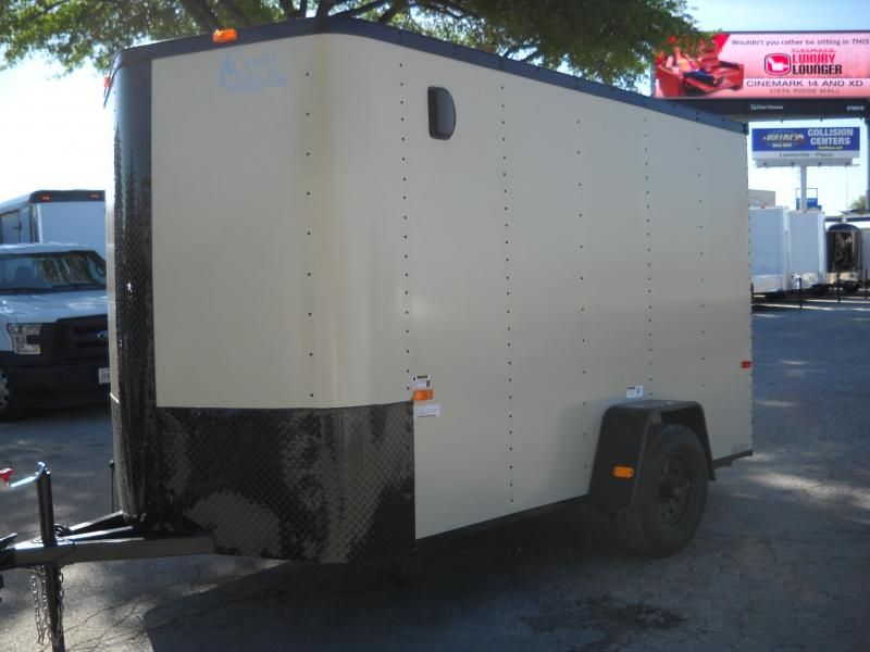 2017 Cargo Craft 6X12 W/ Rear Ramp Enclosed Cargo Trailer