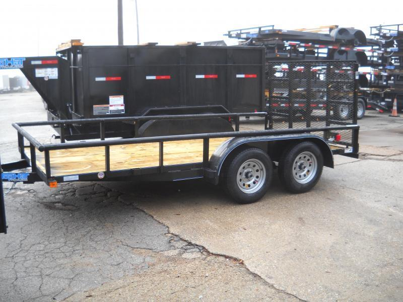 2018 Top Hat 7x14 Pipe-Top Utility Trailer