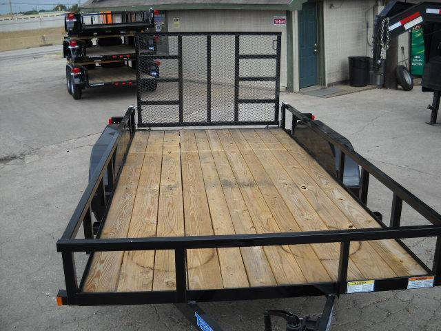 2018 Top Hat Trailers 7X16 PIPE TOP Utility Trailer