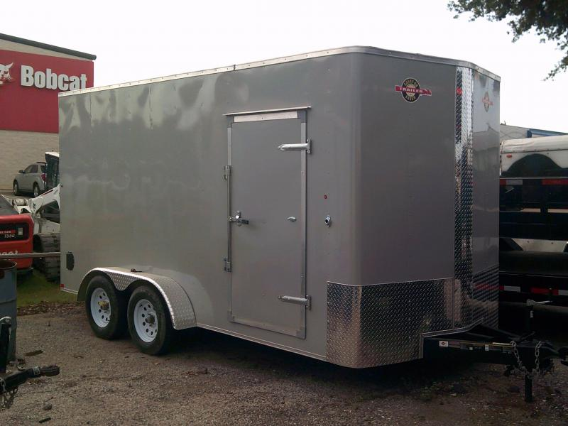 2018 Carry-On 7X16 W/ REAR RAMP Enclosed Cargo Trailer