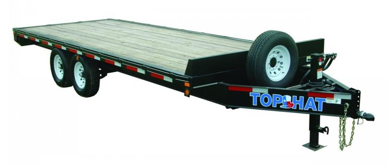 2018 Top Hat Trailers 102X20 DECKOVER Equipment Trailer