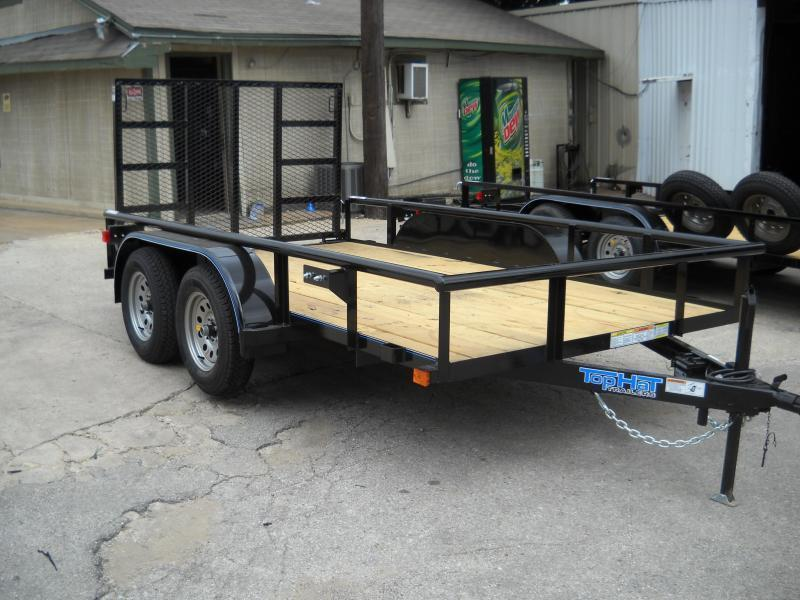 2018 Top Hat 6.5X12 Pipe-Top Tandem Axle Utility Trailer