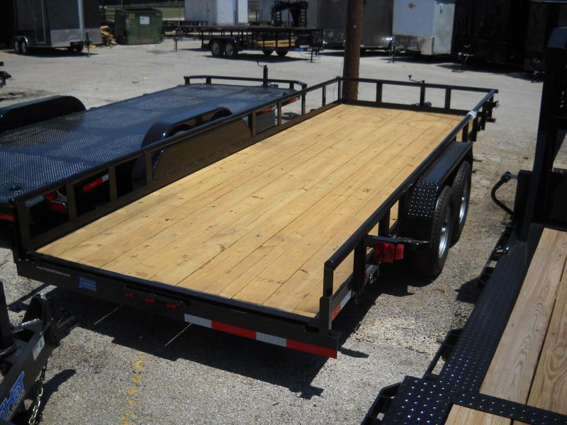 2018 Top Hat Trailers 7X20 Pipe Top Utility Trailer