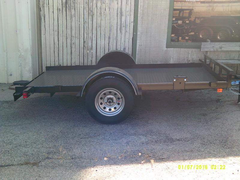 2018 Top Hat Trailers 5X10 ALL STEEL Utility Trailer