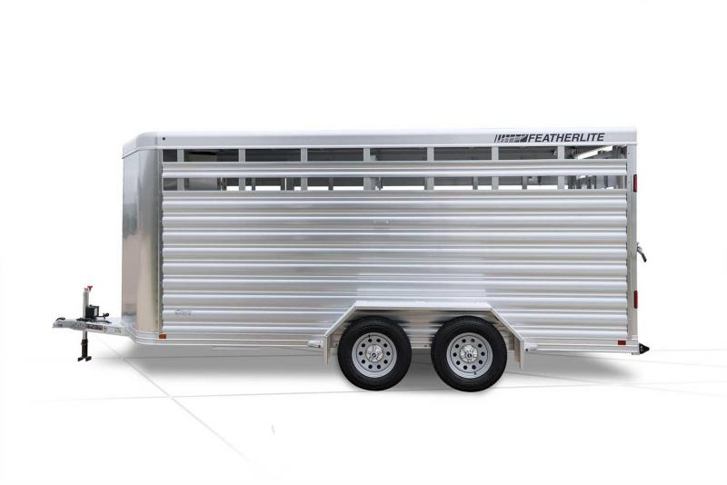 2019 Featherlite 8107 Stock Trailer