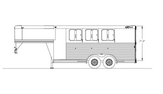 2019 Exiss CXF GN Edition Horse Trailer