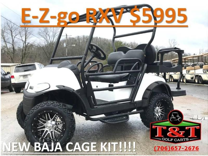2010 E-Z-GO RXV ELECTRIC Golf Cart | T and T Golf Carts | Yamaha and on ezgo golf cart body kits, ezgo rxv light kit, ezgo golf cart lift kits, ezgo txt golf cart light kit, ezgo golf cart radio kits,