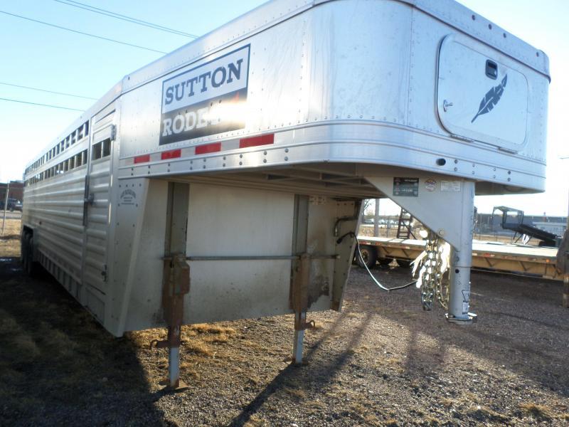2014 Featherlite 8127 Stock Livestock Trailer
