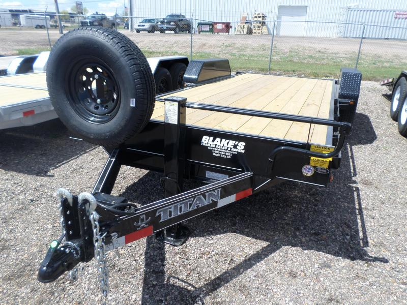 2017 Titan Trailers Tilt Bed Flatbed Trailer