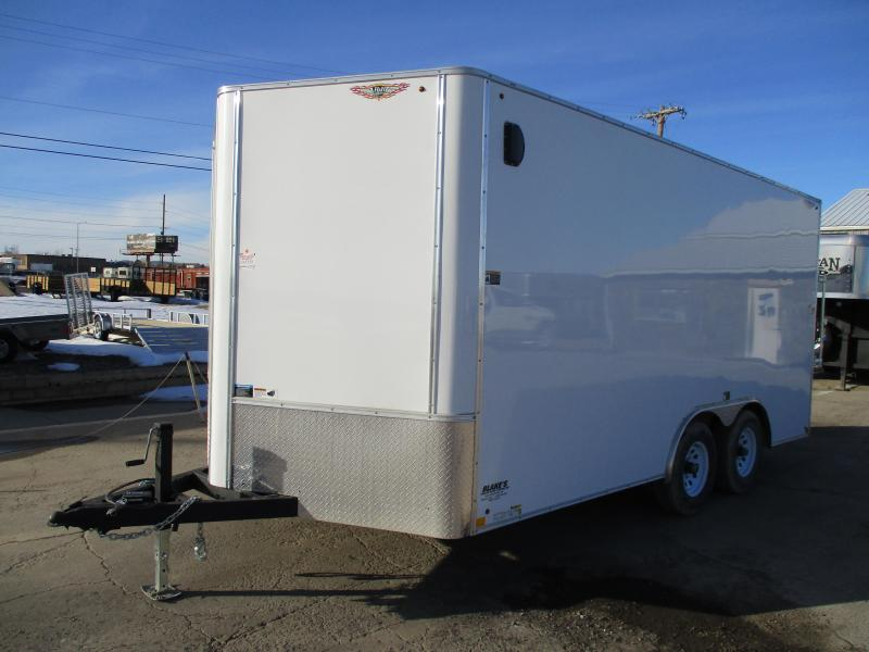 2018 H and H Trailer Cargo Enclosed Cargo Trailer 8.5 X 16