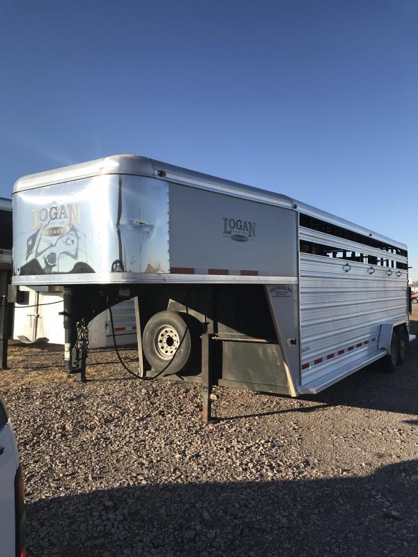 2014 Logan Coach Stockman Livestock Trailer 7 X 22