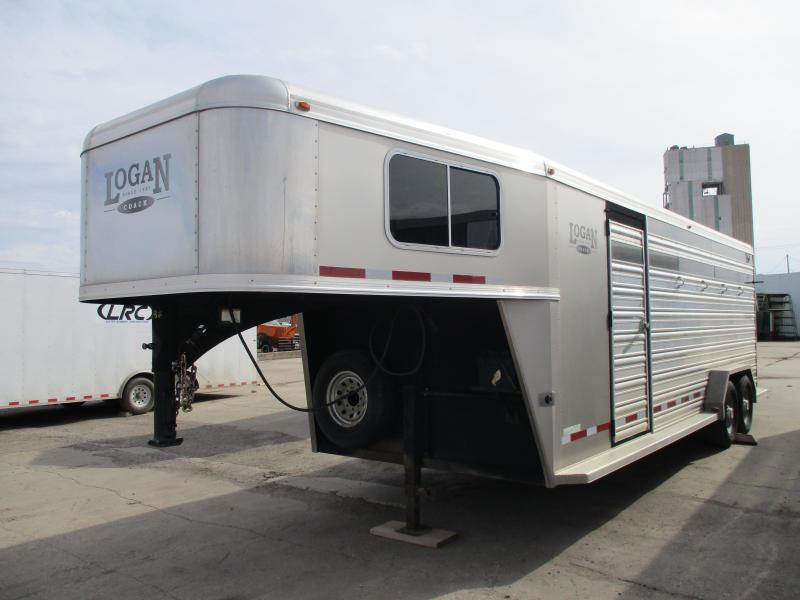 2012 Logan Coach Stock Combo Livestock Trailer 7 X 22