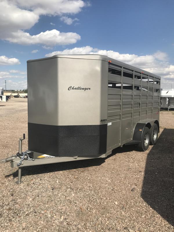 2017 Titan Trailers Challenger Livestock Trailer 6'8X16