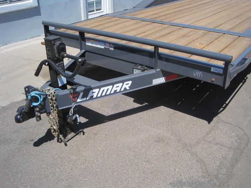 2019 Lamar Trailers TD-14k-102 inch wide x 20ft Equipment Trailer