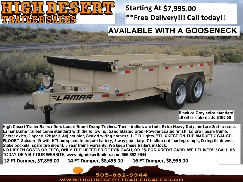 Lamar Dump Trailers- Lowest Prices- Highest Quality- High Desert Trailers