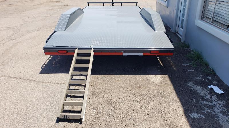 "2019 Lamar Trailers 102"" wide with drive over fenders CC-5.2k-20 Steel Deck Car / Racing Trailer / Buggy Hauler"
