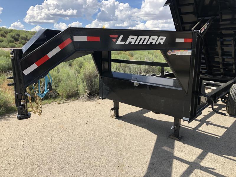 2019 Lamar Trailers DL-21k-gooseneck-4' side Dump Trailer