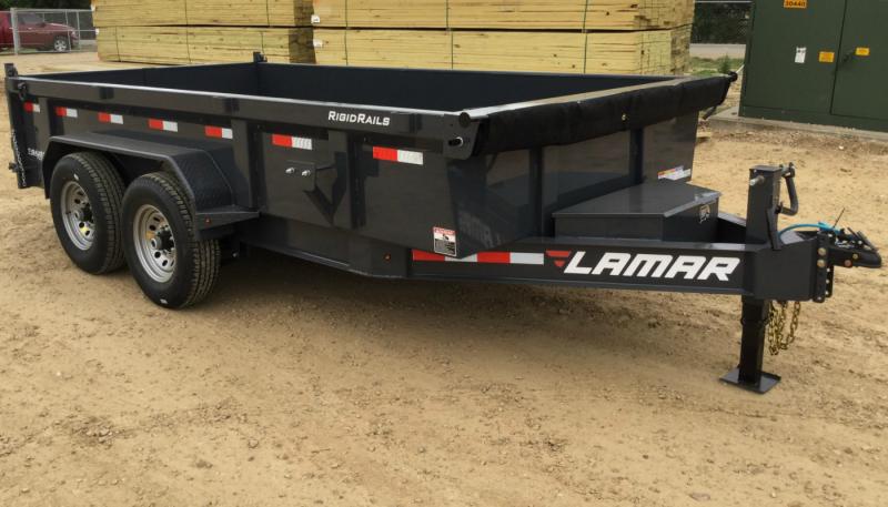 2017 Lamar Dump Trailer w/ 7 Gauge Floor