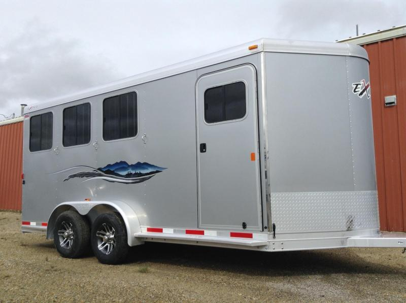 2017 Exiss 3 Horse Trailer w/ Rear Tack