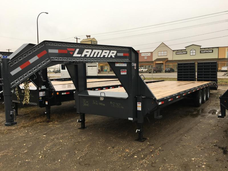 2018 Lamar 30' Triple Axle Torsion Trailer