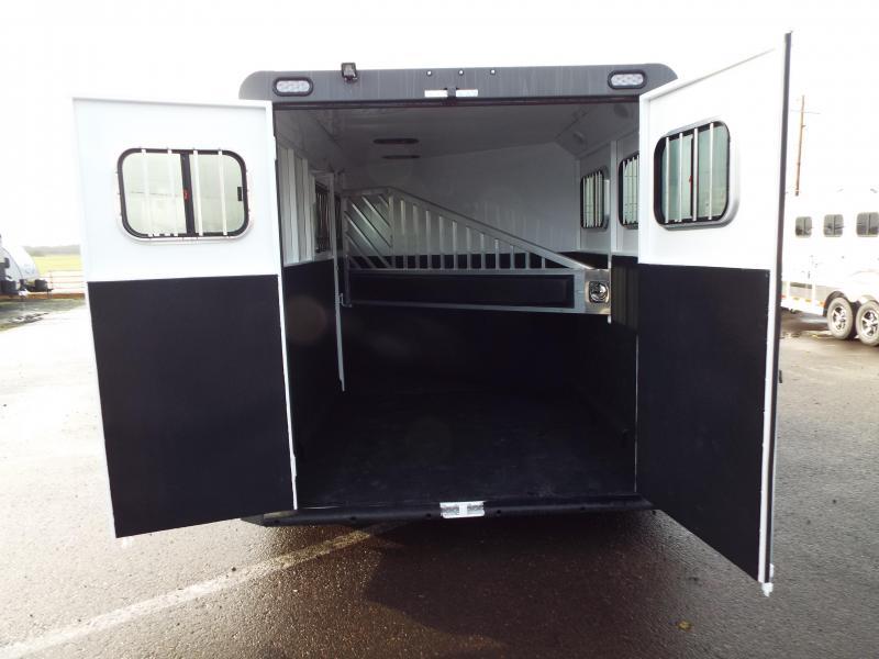 2017 Trails West Sierra 2 Horse Trailer - SpeciALite Aluminum Skin w/ Convenience Pkg - 7 ft Tall