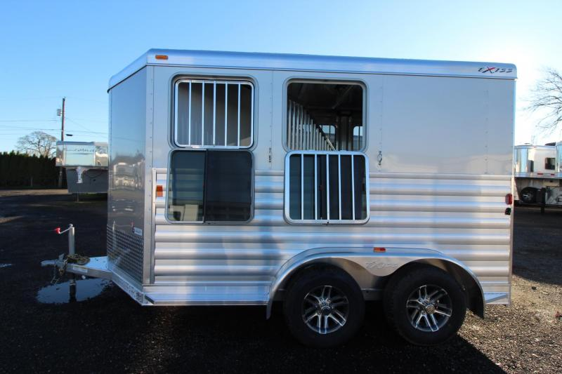 2018 Exiss Express XT 2 Horse Trailer - Polylast Flooring - Jail Bar Dividers