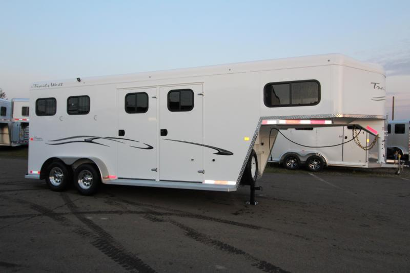 2018 Trails West Classic Specialite 2 Horse - w/ 5x5 Comfort Package - Side Tack - Rear Broom Closet
