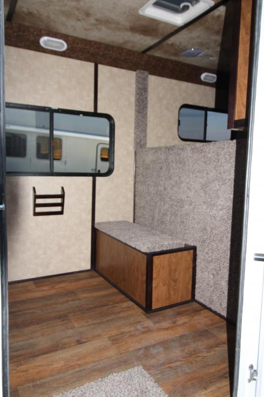 """2018 Trails West Classic Specialite 2 Horse - w/ 5x5 Comfort Package - Side Tack - Rear Broom Closet - 7'6"""" Tall"""