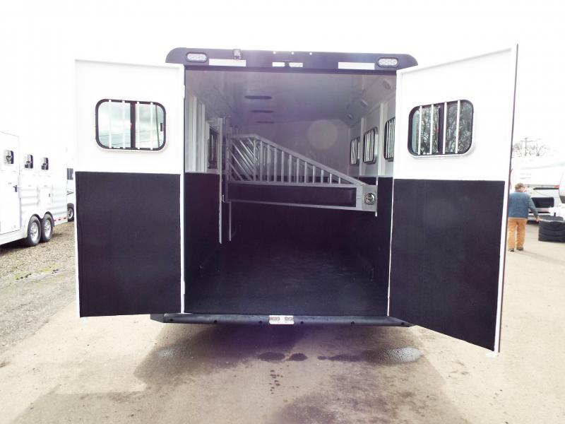 "2017 Trails West Sierra Specialite 3 Horse Warmblood 7'6"" Tall w/ Escape Door"