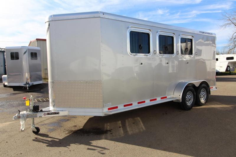 2018 Featherlite 9409 - 3 Horse Trailer - All Aluminum - Champagne Exterior Color -