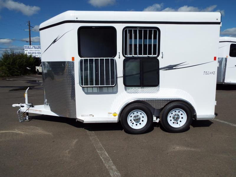 2016 Fabform Vision Deluxe - Galvanized Steel 2 Horse Trailer -w/ Double Rear Doors - Rubber Wall Mats - Swing Out Saddle Rack