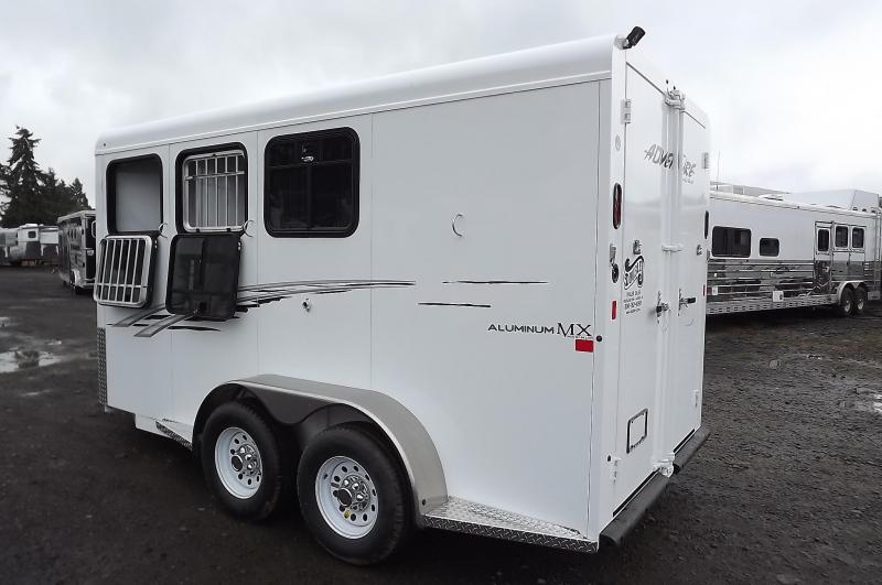 2017 Trails West Adventure MX II Aluminum Skin 3 Horse Trailer