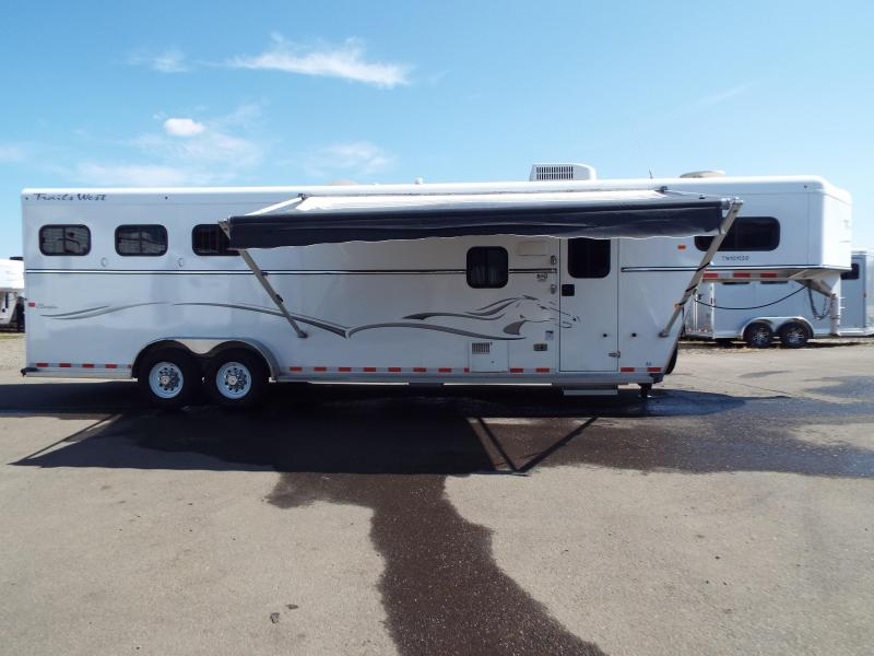 2012 Trails West classic 10 x 15 w/ slide - mangers- rear tack