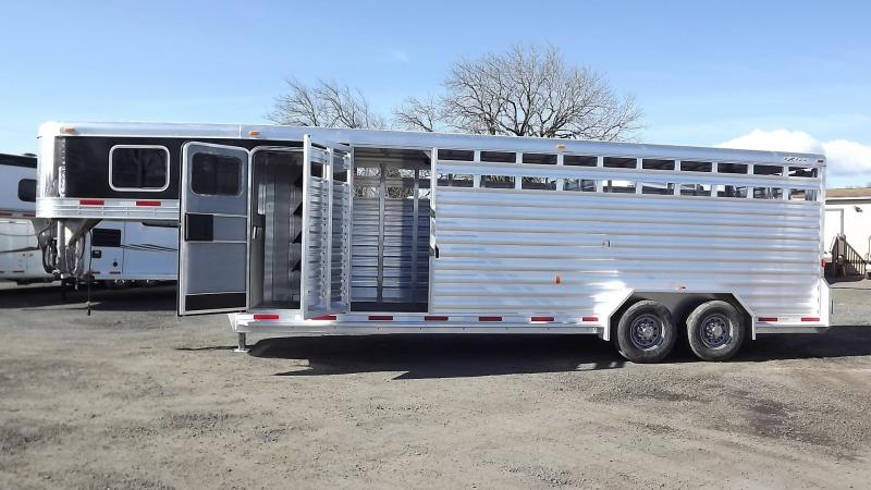"2017 Exiss STC 7024 24' Stock Combo Trailer - 7'2"" Tall - Extruded Aluminum Stainless Nose"