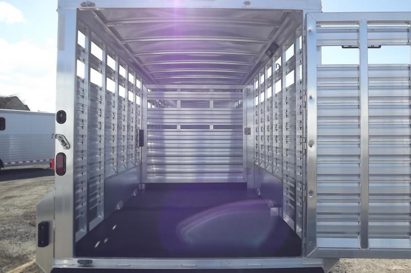 """2017 Exiss STC 7024 24' Stock Combo Trailer - 7'2"""" Tall - Extruded Aluminum Stainless Nose"""