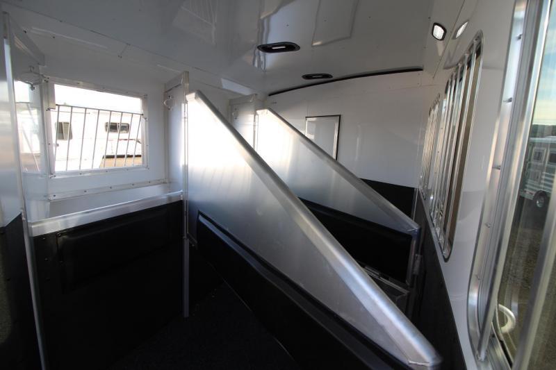2018 Exiss Endeavor 8312 - 3 Horse 12' Short wall Living Quarters Trailer - Slide out - Polylast Flooring - Living Quarters Loaded W/ Upgrades