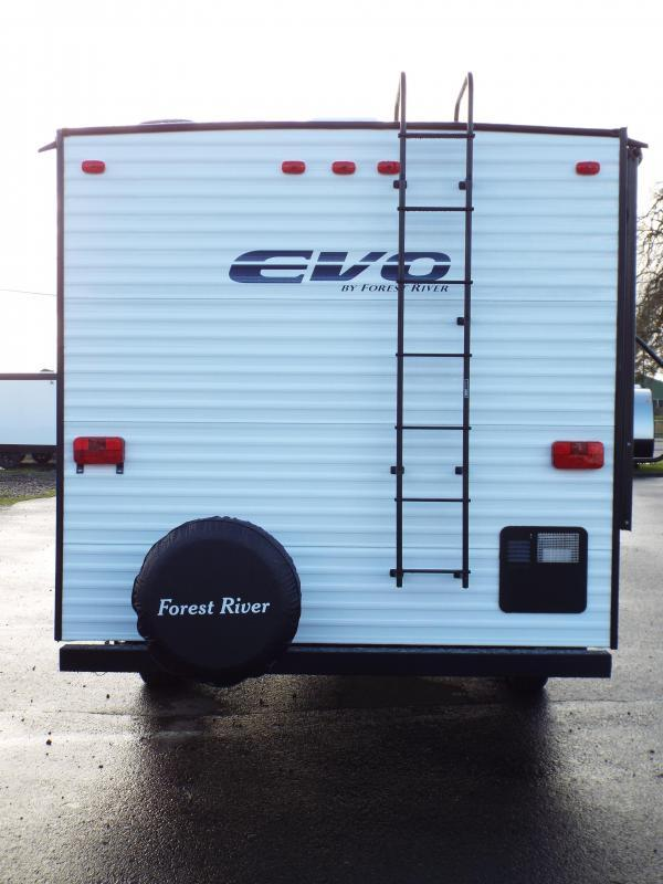 2017 Forest River EVO 1850 Travel Trailer - w/ Slide out - Arctic Package - Power Awning - Full Walk on Roof