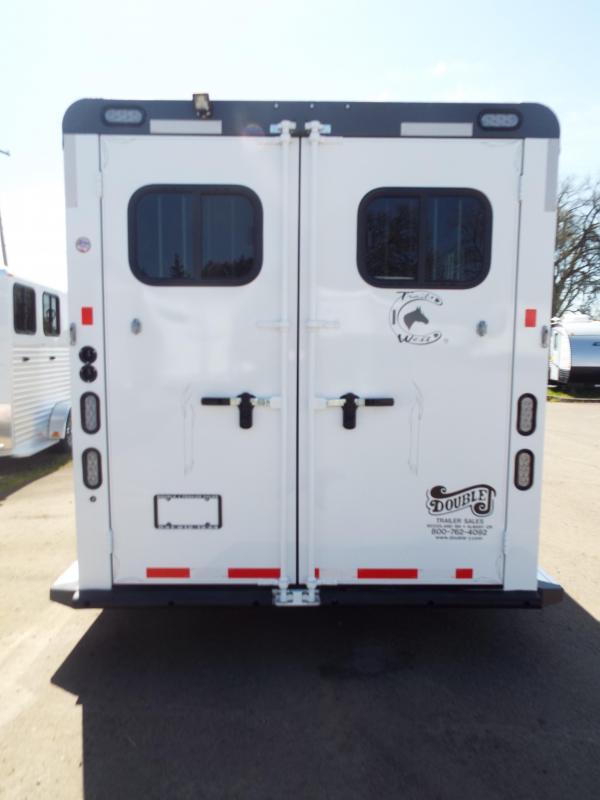 2017 Trails West Sierra Specialite 3 Horse Trailer - Steel Frame Aluminum Skin - First Stall Escape Door