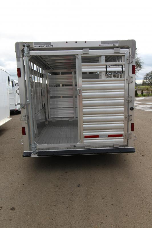 2018 Featherlite 8127 - 24' Stock Trailer -7' Wide - All Aluminum - Double Center Gates with Sliders