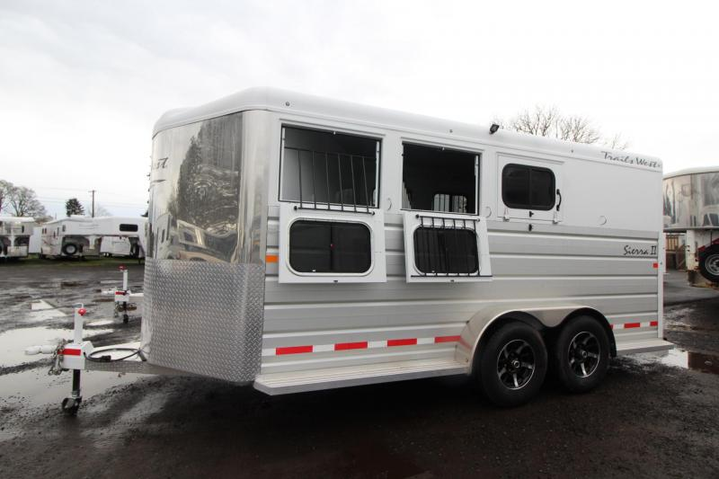 2018 Trails West Sierra II - Aluminum Skin Steel Frame - 3 Horse Trailer - Lined and insulated - Swing out Saddle Rack