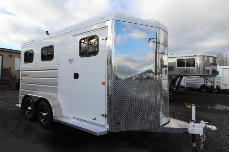 2018 Trails West Sierra II Warmblood 2 Horse Trailer W/ Escape door - Aluminum Skin Steel Frame