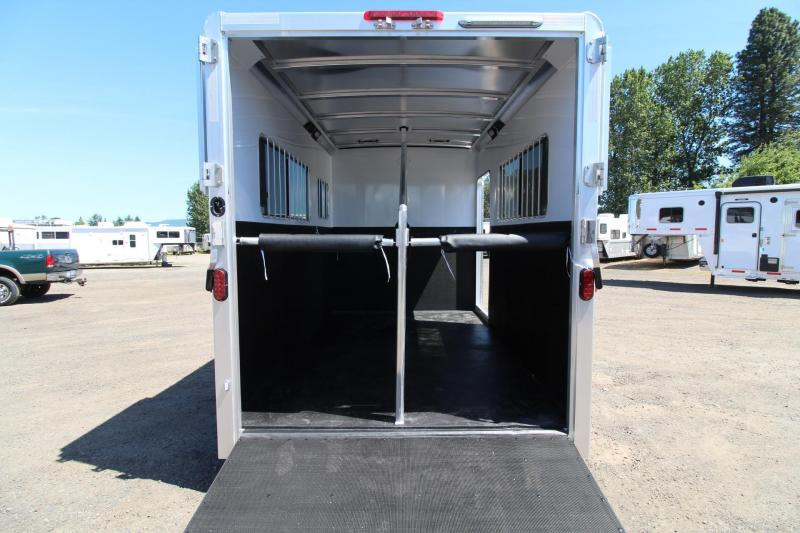 """2017 Exiss Trailers 722 Straight load - 7'8"""" Tall-7 Wide-12'5"""" Long - Horse Trailer"""
