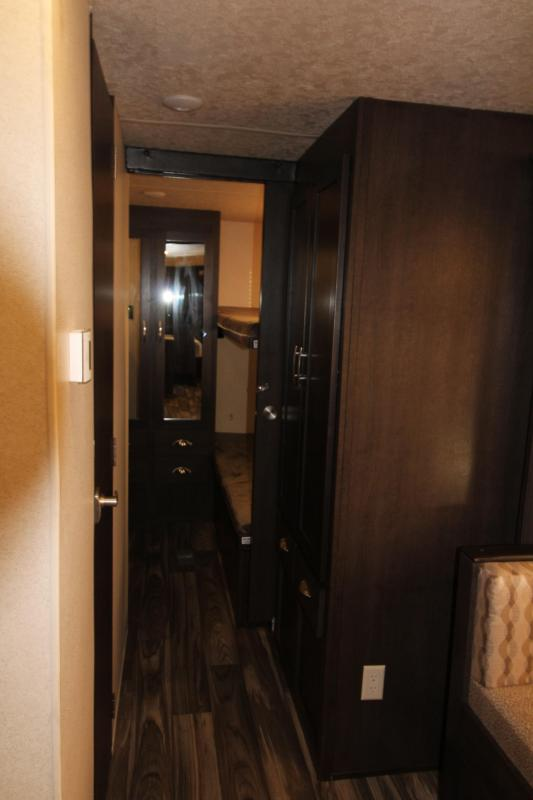 2018 Forest River EVO 2990 Travel Trailer - NEW Floorplan! Sleeps 8! - Outside Kitchen - Dinette and Sofa in Slide Out - 3 Bunk Beds!