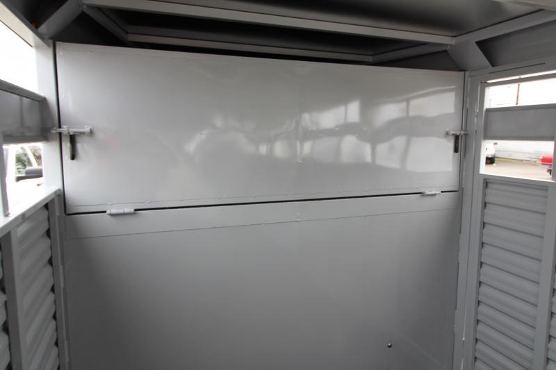 2018 Trails West Hotshot 24 ft. Steel Stock Trailer w/ Sliding Rear Gate - Extra Center Gate - Sort Doors in Center Gates