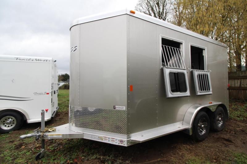 2018 Exiss 720 Aluminum 2 Horse Trailer - Large Tack Room w/ Swing out saddle rack - Polylast Flooring