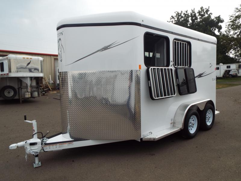 2018 Fabform Vision Deluxe  2 Horse Trailer - Galvanized Steel Construction - Swing Out Saddle Rack - Water Tank - Adjustable Jailbar Divider