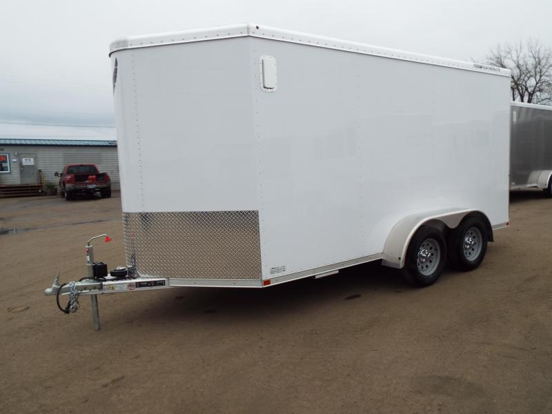 "2017 Featherlite 1610 Enclosed 14 ft Cargo Trailer - All Aluminum - 7' Tall 6'7"" Wide - Discounted due to slight dents from hail"