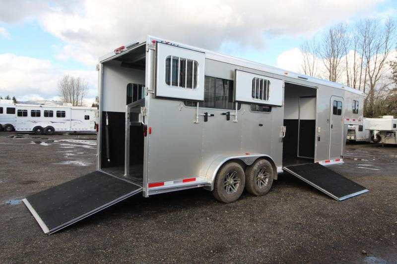 2018 Exiss 7200 Straight Load 2+1 Warmblood Horse Trailer - Box Stall w/ Ramp