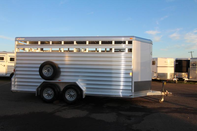"2018 Exiss 716 All Aluminum Livestock Trailer - 7'2"" Tall 16' Long"