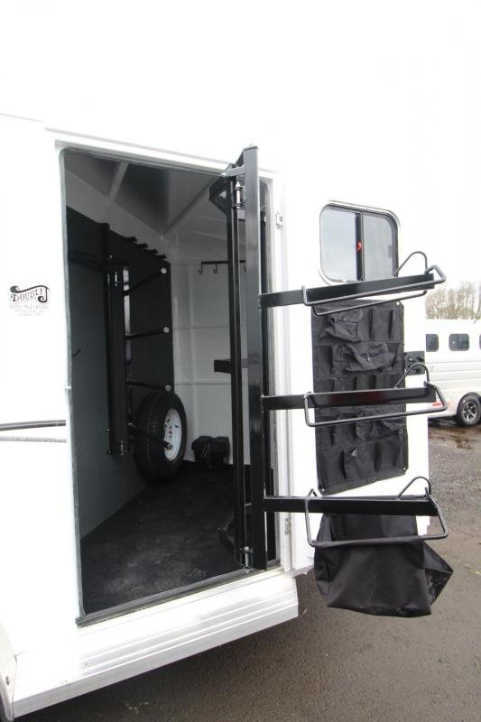 2018 Trails West Classic II - 2 Horse Trailer - Aluminum Skin Steel Frame - Swing out Saddle Rack
